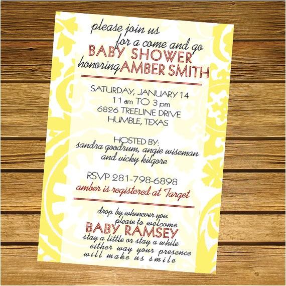 e and go baby shower invitation