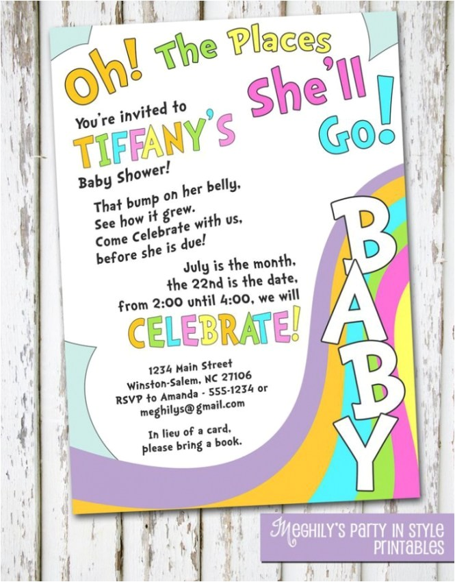 e and go baby shower invitation wording premium invi