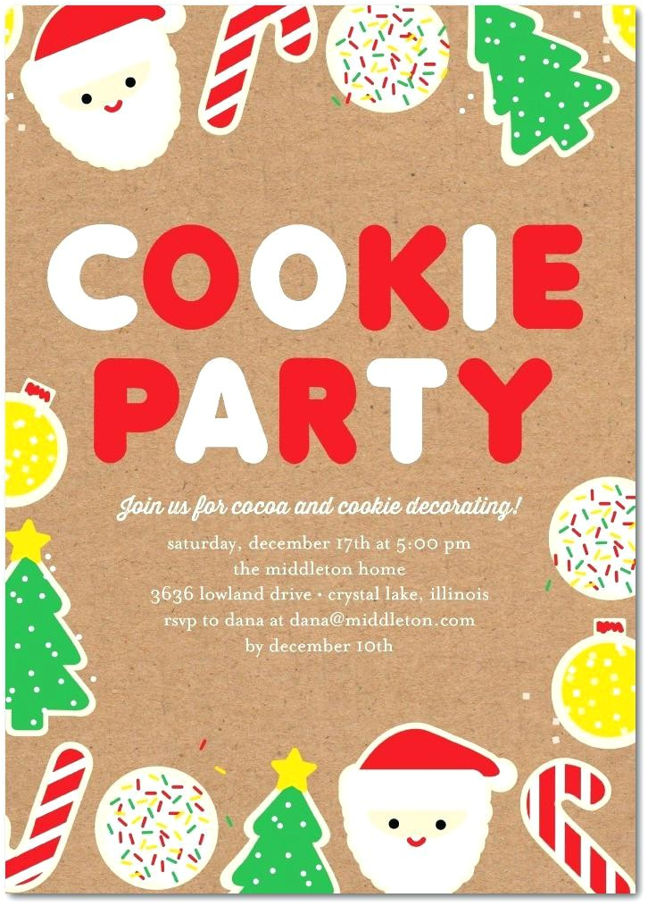 christmas cookie decorating party invitation wording