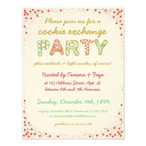 post cookie swap printable invitation template 348457