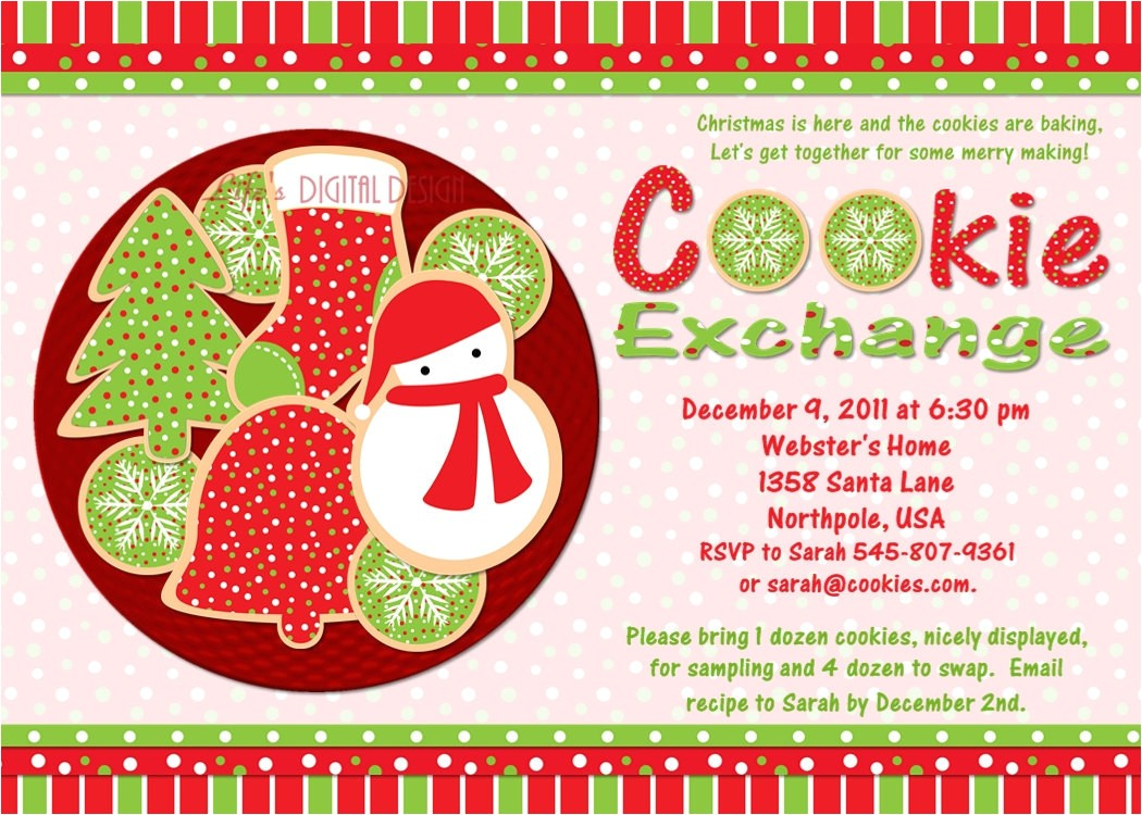 post printable cookie exchange invitations 348340