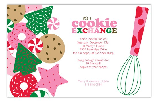cookie exchange invitations template