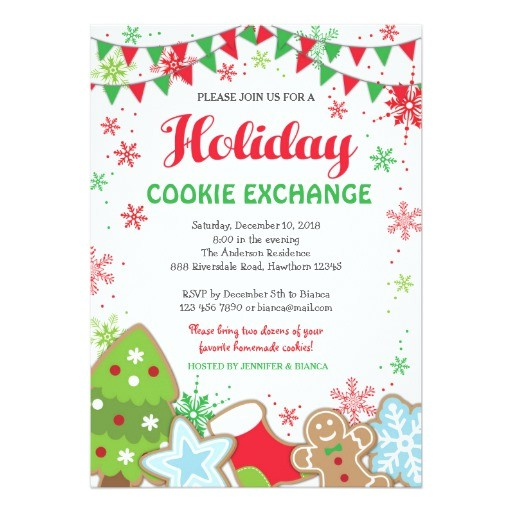 holiday cookie exchange invitation cookie swap 256849361966159346