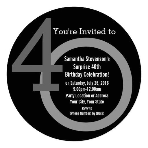 Cool 40th Birthday Invitations 40th Birthday Invitations Men