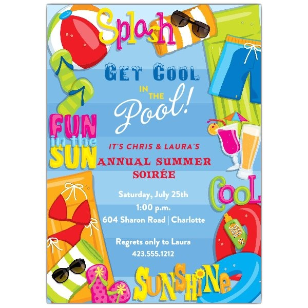 Cool Pool Party Invitation Ideas Cool Summer Pool Party Invitations Paperstyle