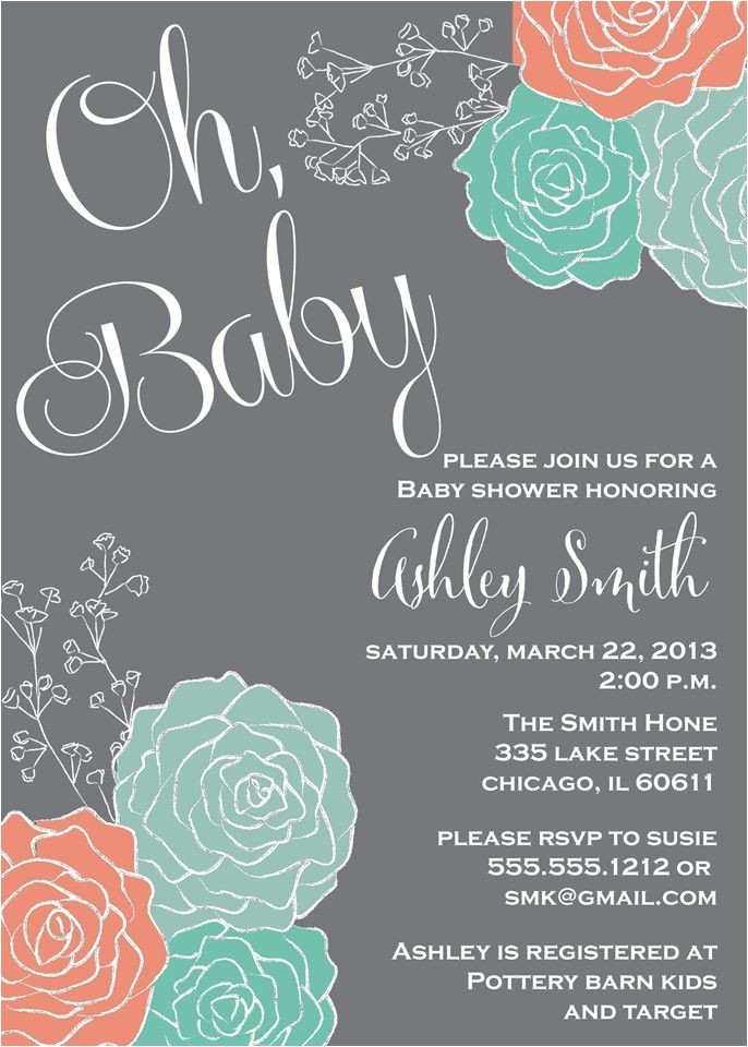 Coral and Mint Baby Shower Invitations Best 25 Coral Baby Showers Ideas On Pinterest