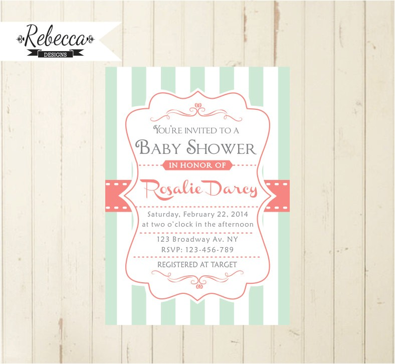 mint baby shower mint and coral baby