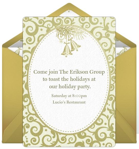 pany holiday party invitations