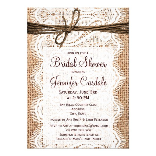 """Country Bridal Shower Invites Rustic Country Burlap Bridal Shower Invitations 4 5"""" X 6"""