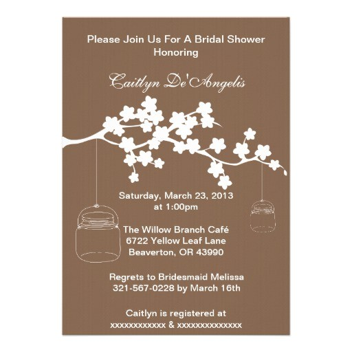 country chic mason jar bridal shower invitation 161737673270174155