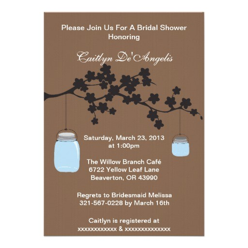 country chic mason jar bridal shower invitation 161378696964149132