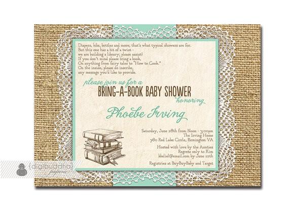 lace burlap baby shower invitation bring