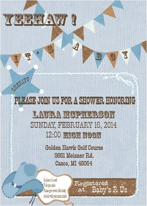 country themed invites