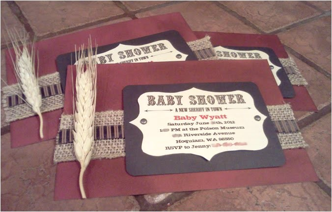 country themed baby shower invites
