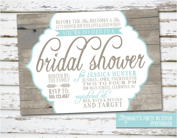 country rustic theme bridal shower