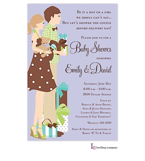 couples baby shower invitation wording ideas