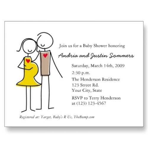 unique white couples baby shower invitations bs064