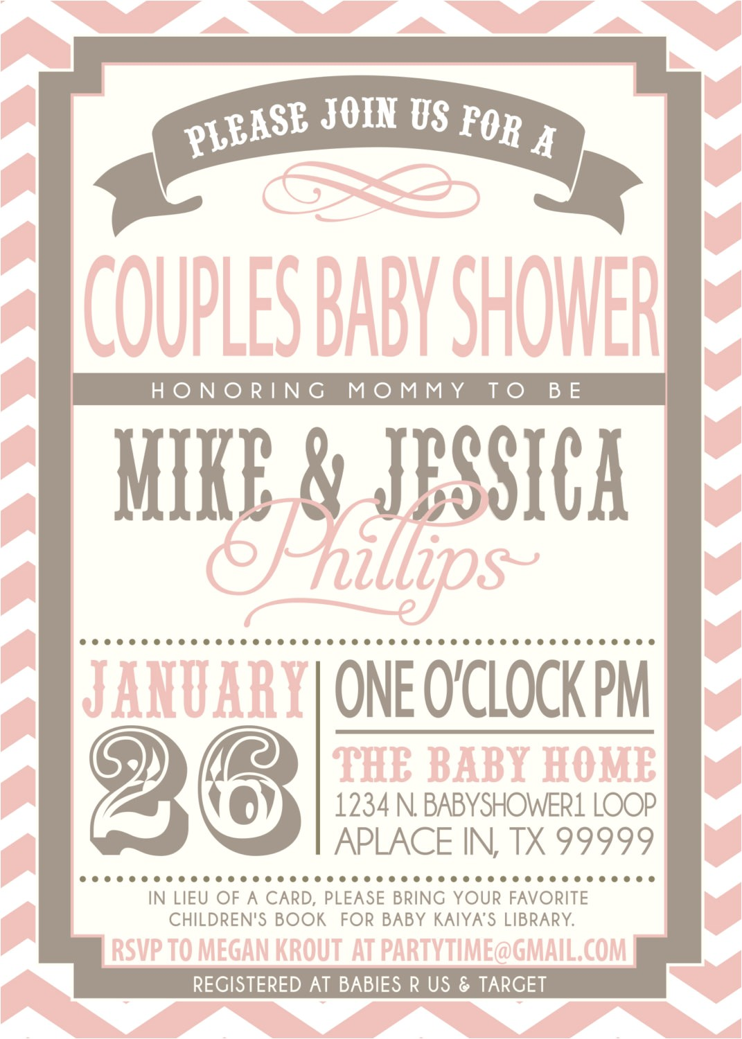 enchanting couples baby shower invitations girl theruntime in