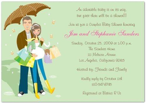 couple baby shower invitation wording