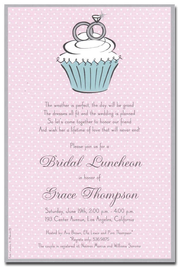 sample couples wedding shower invitations