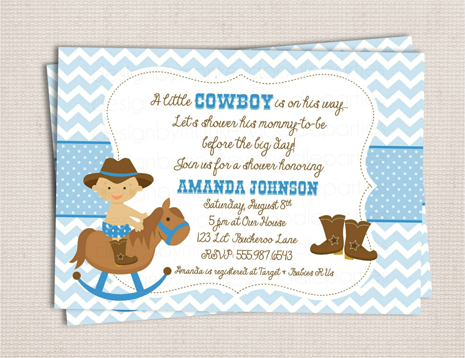 western baby shower invitations