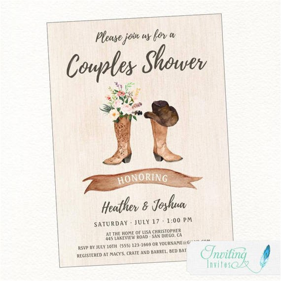 cowboy boot rustic bridal shower