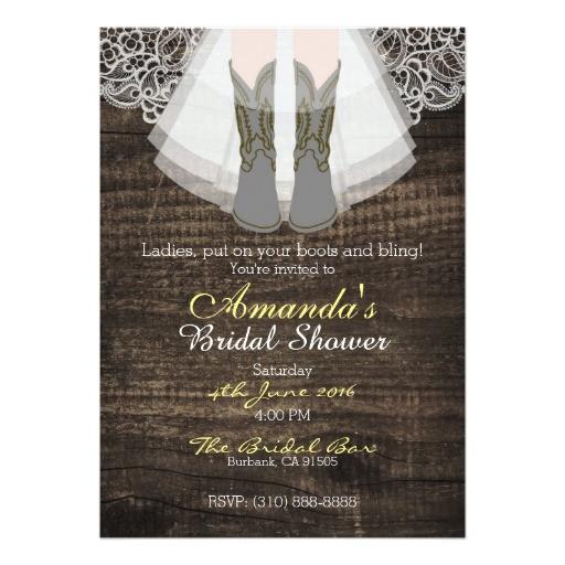 rustic ranch cowgirl bridal shower invitation 5 x7 256064457315762228