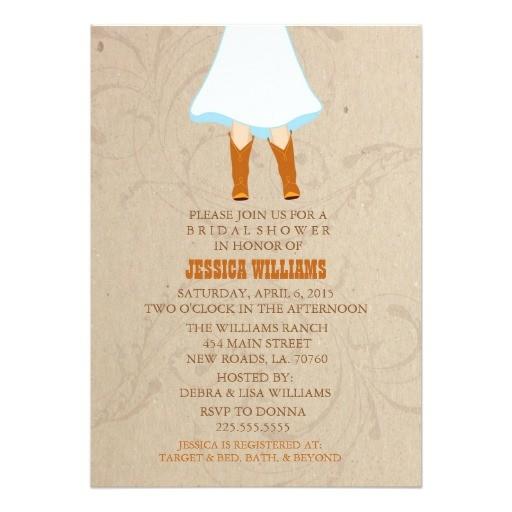 rustic western bridal shower invitations 161923176518447326