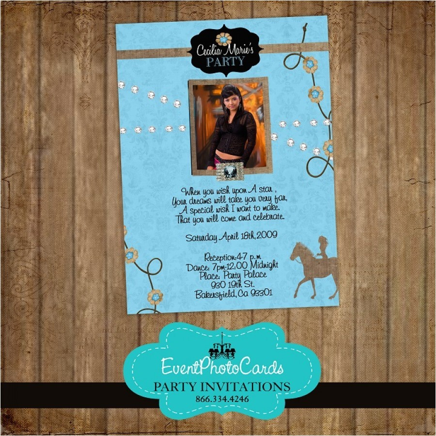 blue western quinceanera invitations 25