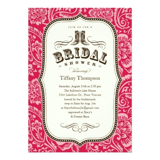 western bridal shower invitations