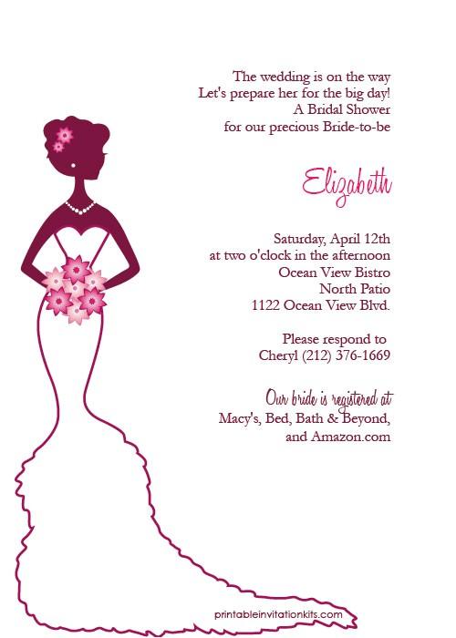Create Bridal Shower Invitations Free Bridal Shower Invitations Create Free Printable Bridal