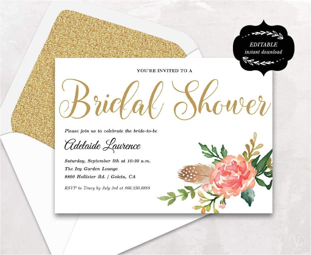 wedding shower invitation templates