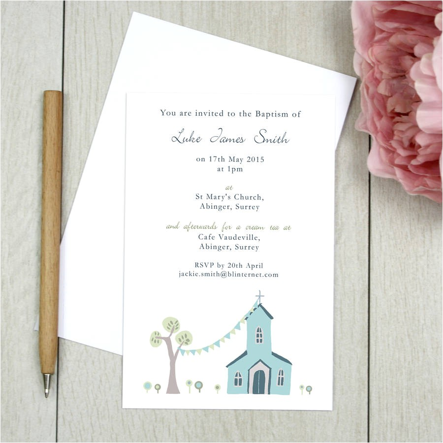 design your own christening invitations