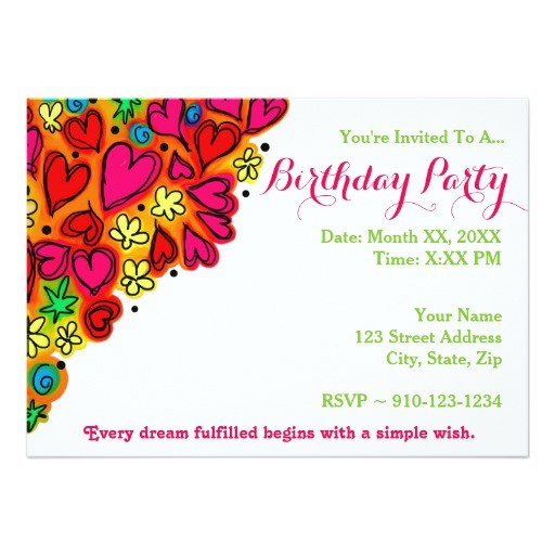 create your own birthday party invitation 256489307222596644