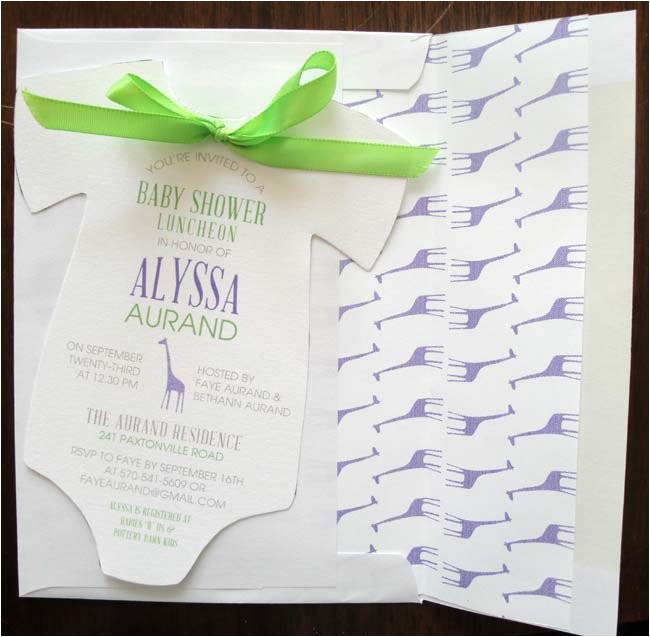 creative baby shower invitation ideas