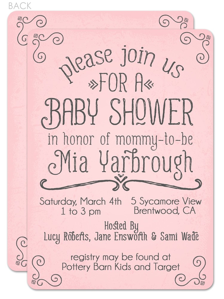 simple baby shower invitation wording