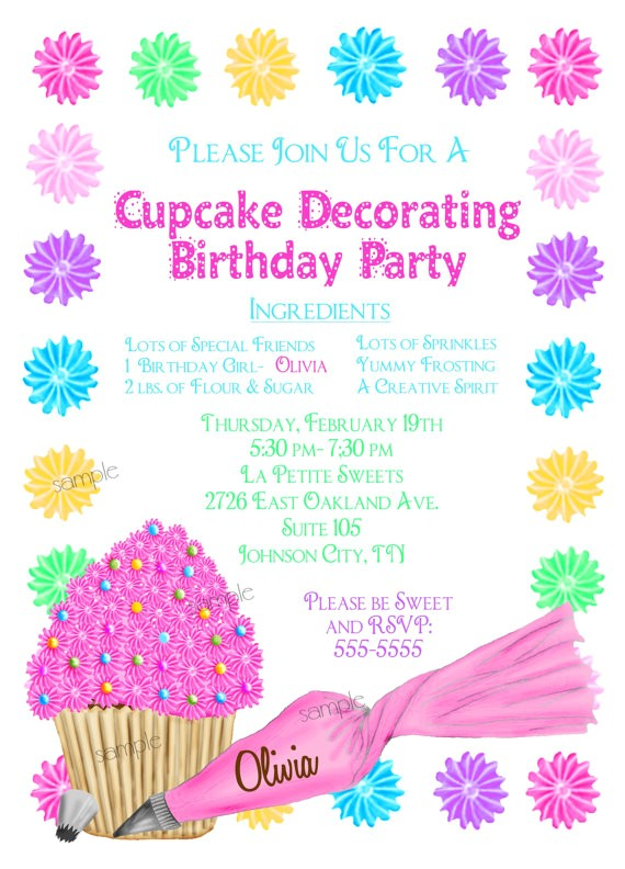 cupcake decorating invitations cupcake