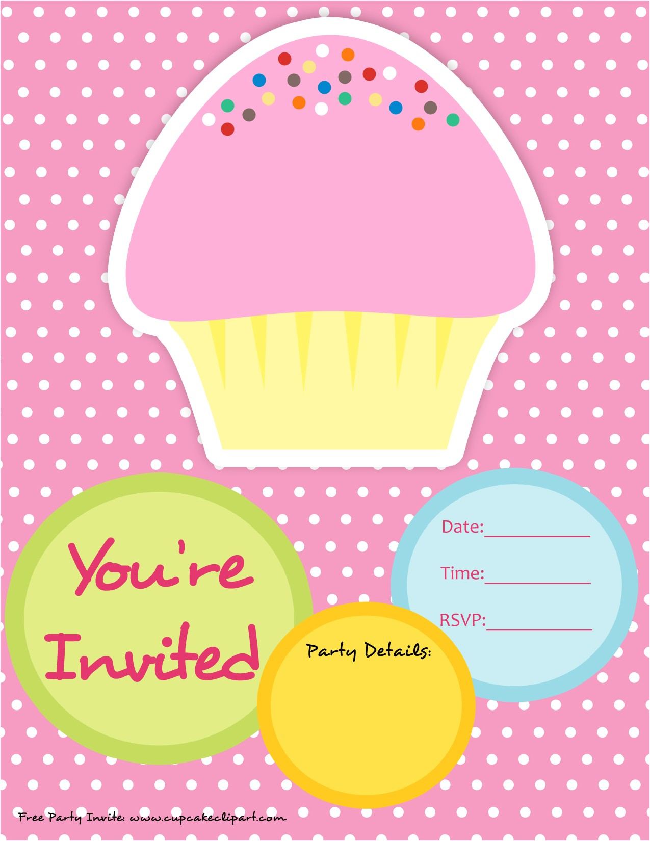 post cupcake birthday party invitations printable free 308645