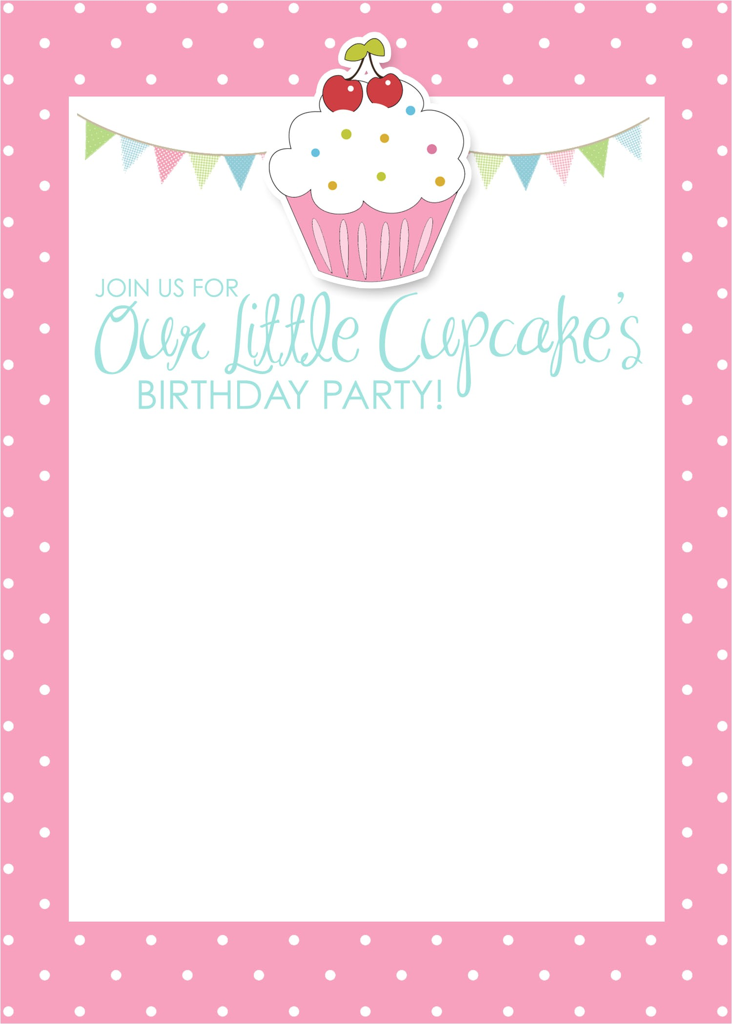 post cupcake birthday invitations printable 308673