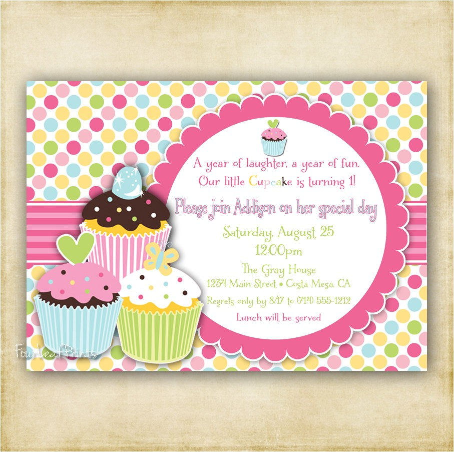 post cupcake birthday party invitation templates printable free 308630