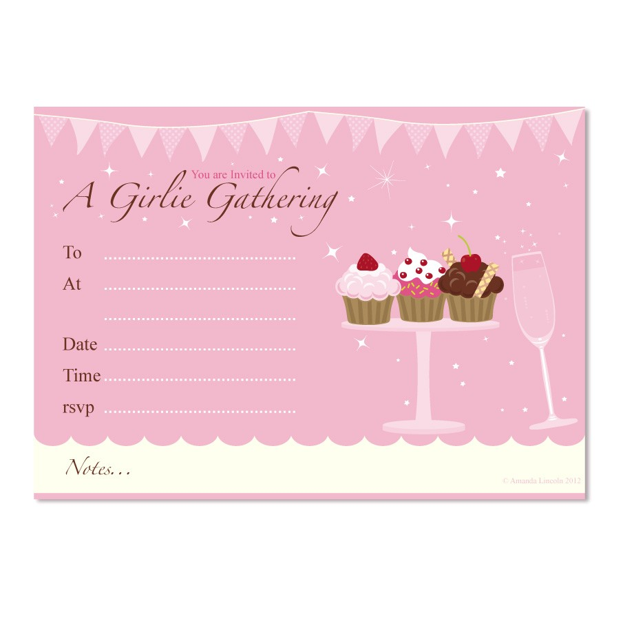 post cupcake birthday party invitation templates free 312977