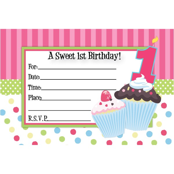cupcake birthday invitations template