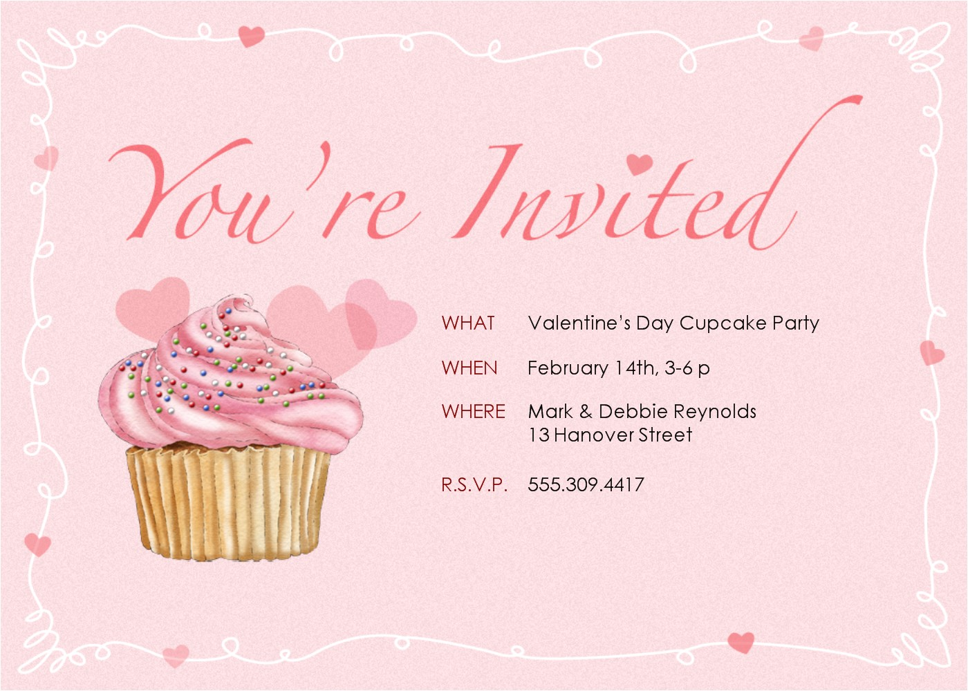 cupcake invitations template