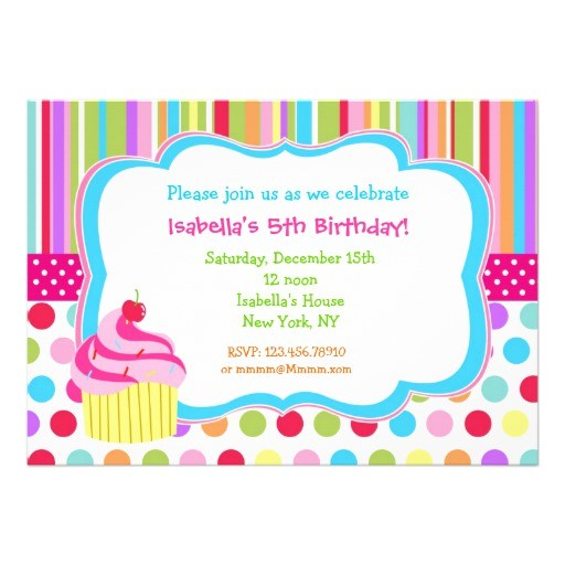 rainbow cupcake birthday party invitations 161849930223060842