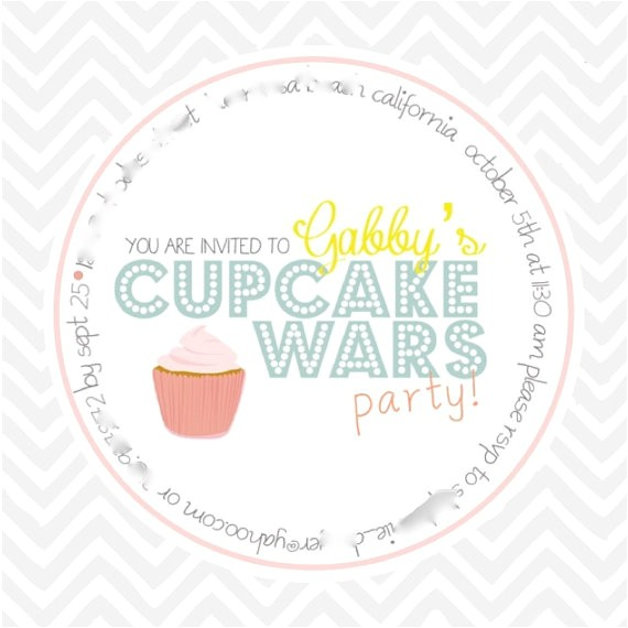 cupcake wars party invitation large
