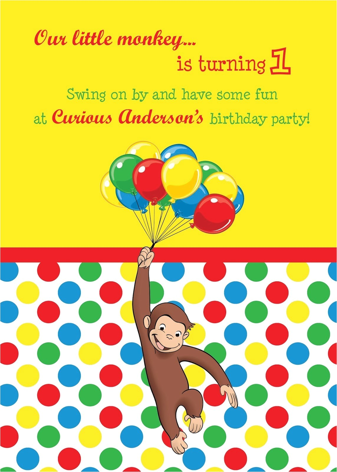 terrific curious george birthday invitations as prepossessing ideas birthday invitation templates