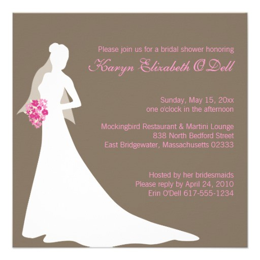 free custom bridal shower invitations