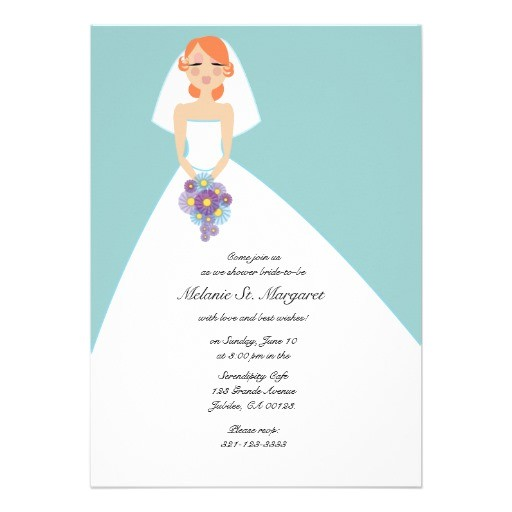 modern bride custom bridal shower invitation 161344462359399683