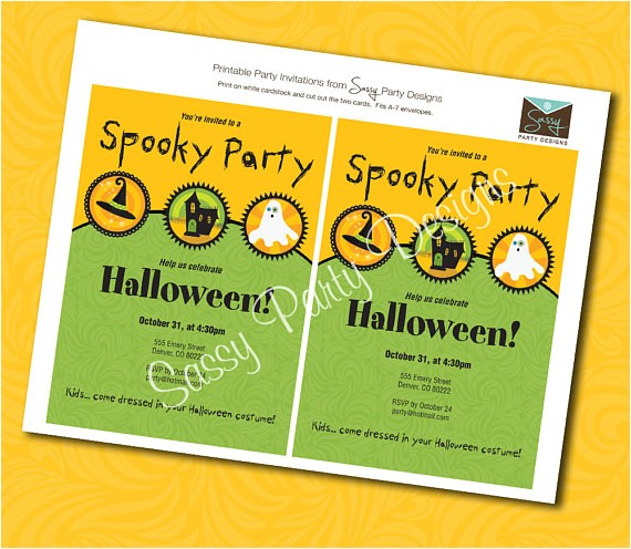 custom spooky halloween party invitations