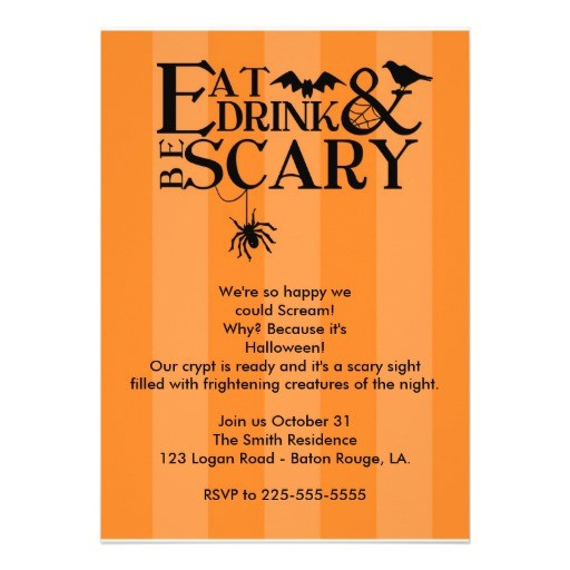 halloween party custom invitations 161881823027790932